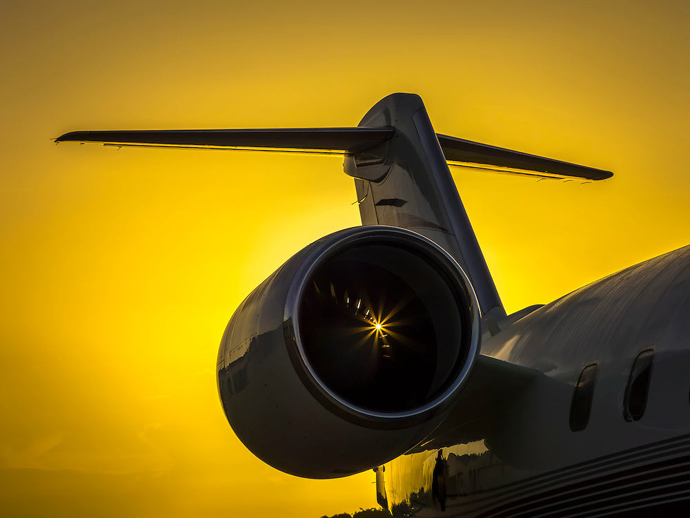 Corporate jet, photographed at sunrise at Opa-locka Executive Airport, near Miami.  Created by aviation photographer John Slemp of Aerographs Aviation Photography. Clients include Goodyear Aviation Tires, Phillips 66 Aviation Fuels, Smithsonian Air & Space magazine, and The Lindbergh Foundation.  Specialising in high end commercial aviation photography and the supply of aviation stock photography for commercial and marketing use.