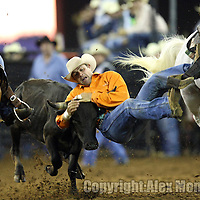 Silver Spurs rodeo action in Kissimee, Florida. PRCA rodeo event in Florida. The 129th annual running of the cowboy event.