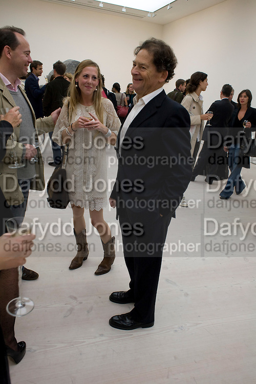 EMILY LAWSON; NIGEL LAWSON, The Revolution Continues: New Art From China. The opening of the New Saatchi Gallery. King's Rd.  London. 7 October 2008. *** Local Caption *** -DO NOT ARCHIVE-© Copyright Photograph by Dafydd Jones. 248 Clapham Rd. London SW9 0PZ. Tel 0207 820 0771. www.dafjones.com.