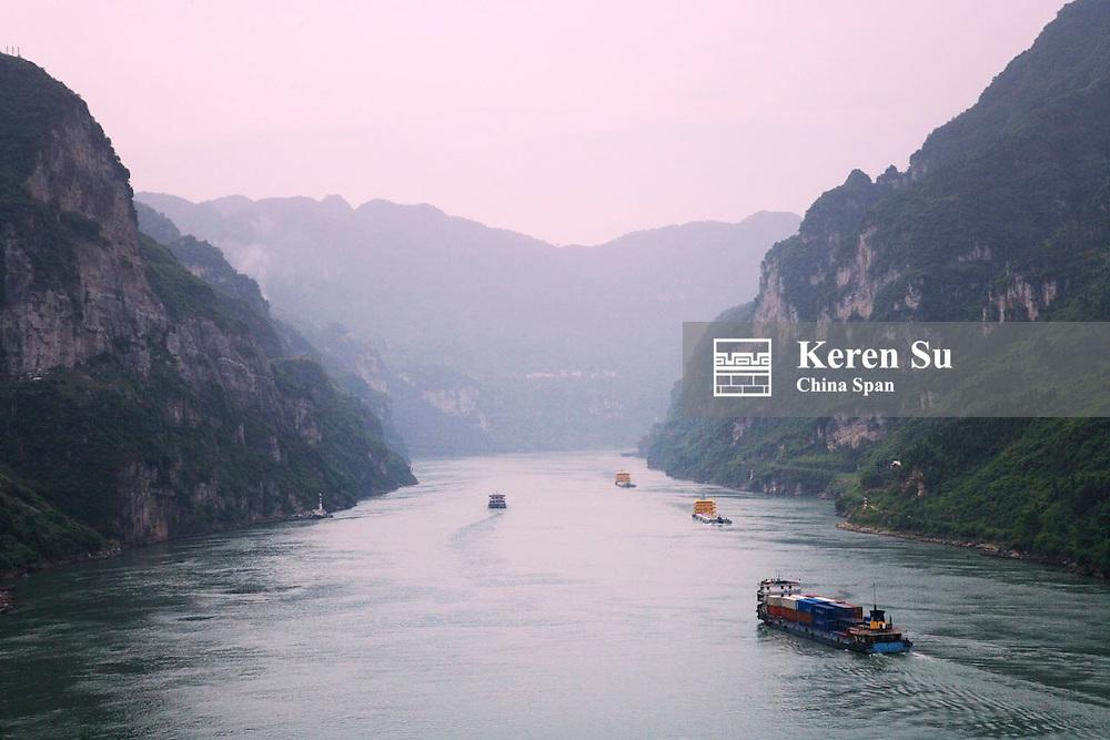 Landscape of Xiling Gorge, China