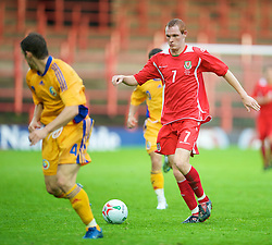 WREXHAM, WALES - Wednesday, August 20, 2008: Wales' Shaun MacDonald in action against Romania during the UEFA Under 21 European Championship Qualifying Group 10 match at the Racecourse Ground. (Photo by David Rawcliffe/Propaganda)