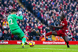Sadio Mane of Liverpool challenges Martin Dubravka of Newcastle United - Mandatory by-line: Robbie Stephenson/JMP - 26/12/2018 - FOOTBALL - Anfield - Liverpool, England - Liverpool v Newcastle United - Premier League