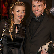 NLD/Amsterdam/20150211 - Premiere Fifty Shades of Grey, Sandra van Nieuwland en partner