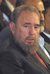 Cuban President Fidel Castro during his visit to Iran on May 2001. Cuban President Fidel Castro said Monday he underwent surgery and temporarily handed power to his brother, Raul. PHOTO BY PARSPIX/ABACAPRESS  | 102840_01 Teheran Tehran Iran