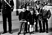 Protestant kids wearing uniforms at the Orange Parade Belfast 12/07/1990's