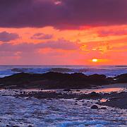 Bob Creek Sunset - Last Sun - Oregon Coast