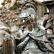 Displays in the interior of St Vitus Cathedral in Prague Castle