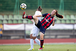 Zala Vindisar of ZNK Olimpija Ljubljana during football match between FC Minsk and ZNK Olimpija Ljubljana in 2nd Qualifying Group of UEFA Women's Champions League 2018/19, on August 7, 2018 in Stadion ZAK, Ljubljana, Slovenia. Photo by Urban Urbanc / Sportida