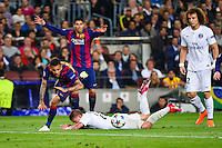 Dani ALVES / Marco VERRATTI - 21.04.2015 - Barcelone / Paris Saint Germain - 1/4Finale Retour Champions League<br />Photo : Dave Winter / Icon Sport