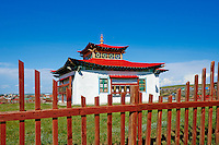 Mongolie, province de Ovorkhangai, vallée Orkhon classée Patrimoine Mondial de l'UNESCO, Kharkhorin, monastere recent dans la ville// Mongolia, Ovorkhangai, Kharkhorin, Orkhon valley, Unesco world heritage, new monastery in the city