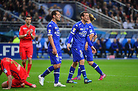 Sebastien SQUILLACI / carton rouge    - 11.04.2015 -  Bastia / PSG - Finale de la Coupe de la Ligue 2015<br />Photo : Dave Winter / Icon Sport