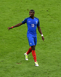 Paul Pogba of France  - Mandatory by-line: Joe Meredith/JMP - 10/06/2016 - FOOTBALL - Stade de France - Paris, France - France v Romania - UEFA European Championship Group A