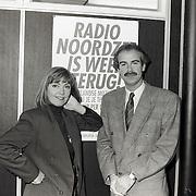 NLD/Huizen/19921119 - Jerney Kaagman en Martin banga Radio Noordzee