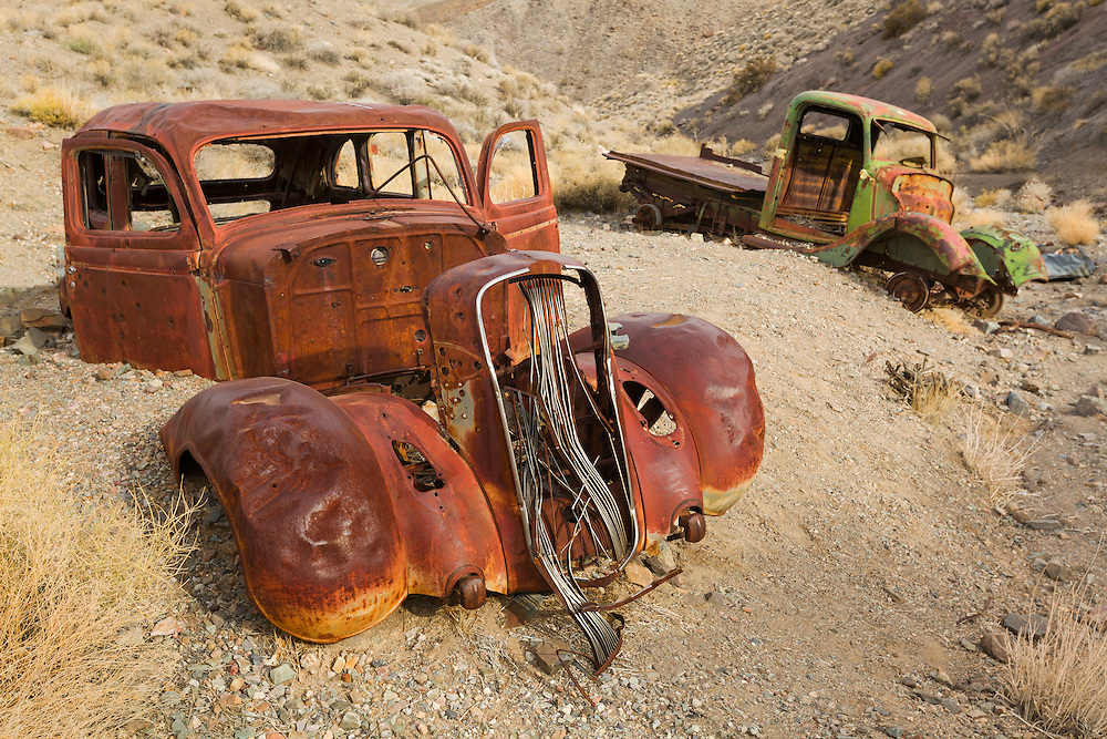 Abandoned Vehicles - Journigan's Mill Dry River Bed - Death Valley, CA