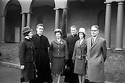 14/03/1964<br /> 03/14/1964<br /> 14 March 1964<br /> Ordination of Fr. Donal Sullivan at Holy Cross College (Clonliffe College), Clonliffe Road, Drumcondra, Dublin. Picture shows Fr. Donal Sullivan, C.M., Kenilworth, Ballinacurra, Co. Limerick (2nd left) with his family after the ordination ceremony. Included are (l-r): Winifred Sullivan (sister); Mrs Sullivan (mother); Fr. ?; Mary Sullivan (sister) and Mr P. Sullivan (father).