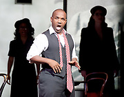 Charlie Parker's Yardbird<br /> by Daniel Schnyder <br /> librettist Bridgette A. Wimberly <br /> English National Opera <br /> at Hackney Empire, London, Great Britain <br /> 7th June 2017 <br /> <br /> <br /> Lawrence Brownlee as Charlie Parker <br /> <br /> Angela Brown as Addie Parker <br /> <br /> Rachel Sterrenberg as Chan Parker <br /> <br /> Elena Perroni as Doris Parker <br /> <br /> Chrystal E Williams as Rebecca Parker <br /> <br /> Will Liverman as Dizzy Gillespie <br /> <br /> Julie Miller as Baroness Nica <br /> <br /> <br /> <br />  <br /> Photograph by Elliott Franks <br /> Image licensed to Elliott Franks Photography Services