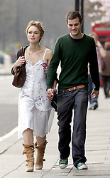 Mar 26, 2005; London, UK; Actress KEIRA KNIGHTLEY out and about with boyfriend JAMIE DORNAN on her birthday..  (Credit Image: Big Pictures/ZUMAPRESS.com)