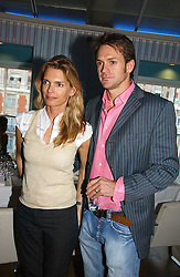 JONATHAN & VICTORIA AITKEN, she was the former wife of Princess Diana's brother Earl Spencer, at a party to celebrate the publication of 'How to Party' by Yasmin Mills with illustrations by Olympia Scarry, held at the Fifth Floor Restaurant, Harvey Nichols, Knightsbridge, London on 3rd July 2006.<br />