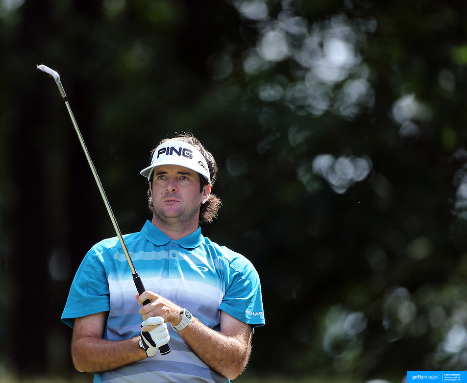 Bubba Watson, USA, in action during the second round of the Travelers Championship at the TPC River Highlands, Cromwell, Connecticut, USA. 20th June 2014. Photo Tim Clayton