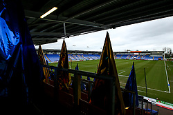 A general view of Montgomery Water Meadow, home to Shrewsbury Town - Mandatory by-line: Robbie Stephenson/JMP - 26/01/2019 - FOOTBALL - Montgomery Waters Meadow - Shrewsbury, England - Shrewsbury Town v Wolverhampton Wanderers - Emirates FA Cup fourth round