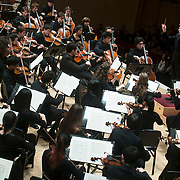 "November 25, 2012 - New York, NY : Music director Joshua Gersen, standing at right, leads the New York Youth Symphony in a rendition of Antonín Leopold Dvo?ák's 'Symphony No. 9 in E minor, Op. 95, B. 178, 'From the New World' (1893)"" as it kicks off its 50th season, in Carnegie Hall's Isaac Stern Auditorium on Sunday afternoon. CREDIT: Karsten Moran for The New York Times"