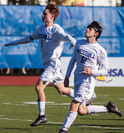 Westhill defeated Briarcliff 1-0 to win the NYSPHSAA Class B boys' soccer championship at Faller Field in Middletown on Nov. 11, 2018. The state title was the first in 26 years for Westhill.