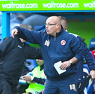 Brian McDermott, manager of Reading instructs his team during the Npower Championship match between Reading and Barnsley on Saturday 25th September 2010 at the Madejski Stadium, Reading, UK. (Photo by Andrew Tobin/Focus Images)