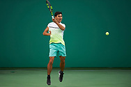 Ashgabat, Turkmenistan - 2017 September 17:<br /> while tennis indoor competition during 2017 Ashgabat 5th Asian Indoor & Martial Arts Games at Indoor Tennis Arena (ITC) at Ashgabat Olympic Complex on September 17, 2017 in Ashgabat, Turkmenistan.<br /> <br /> Photo by © Adam Nurkiewicz / Laurel Photo Services