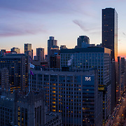 Chicago Near North Side View from above Lake Shore Park