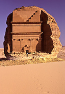 At Mada'in Saleh, wealthy Nabataens were buried in splendor in tombs carved in rock and long since robbed of valuables. The archeological site of Al-Hijr (Madain Saleh) is the first UNESCO World Heritage Site in Saudi Arabia.  It was a major center of the Nabataen civilization.  It is the largest Nabataen site south of Petra in Jordan.  It bears testimony to the Nabataen civilization between the 2nd and 3rd centuries BC and pre-Islamic period in the 1st century AD.