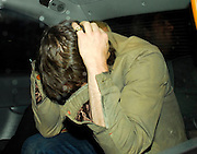 19.JULY.2007. LONDON<br /> <br /> JAMES BLUNT HAVING A CIGARETTE OUTSIDE RAFFLES CLUB, KNIGHTSBRIDGE TRYING TO COVER HIMSELF UP BEFORE THEN GETTING INTO A CAB COVERING HIS FACE.<br /> <br /> BYLINE: EDBIMAGEARCHIVE.CO.UK<br /> <br /> *THIS IMAGE IS STRICTLY FOR UK NEWSPAPERS AND MAGAZINES ONLY*<br /> *FOR WORLD WIDE SALES AND WEB USE PLEASE CONTACT EDBIMAGEARCHIVE - 0208 954 5968*