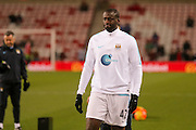 Manchester City midfielder Yaya Toure  during the Barclays Premier League match between Sunderland and Manchester City at the Stadium Of Light, Sunderland, England on 2 February 2016. Photo by Simon Davies.