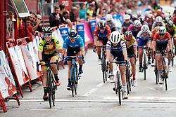 The final sprint between Chloe Hosking (AUS), Letizia Paternoster (ITA) and Roxane Fournier (FRA) at La Madrid Challenge by La Vuelta 2019 - Stage 2, a 98.6 km road race in Madrid, Spain on September 15, 2019. Photo by Sean Robinson/velofocus.com