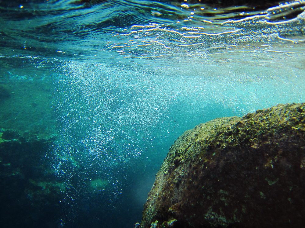 Underwater view of The Baths, Virgin Gorda, British Virgin Islands