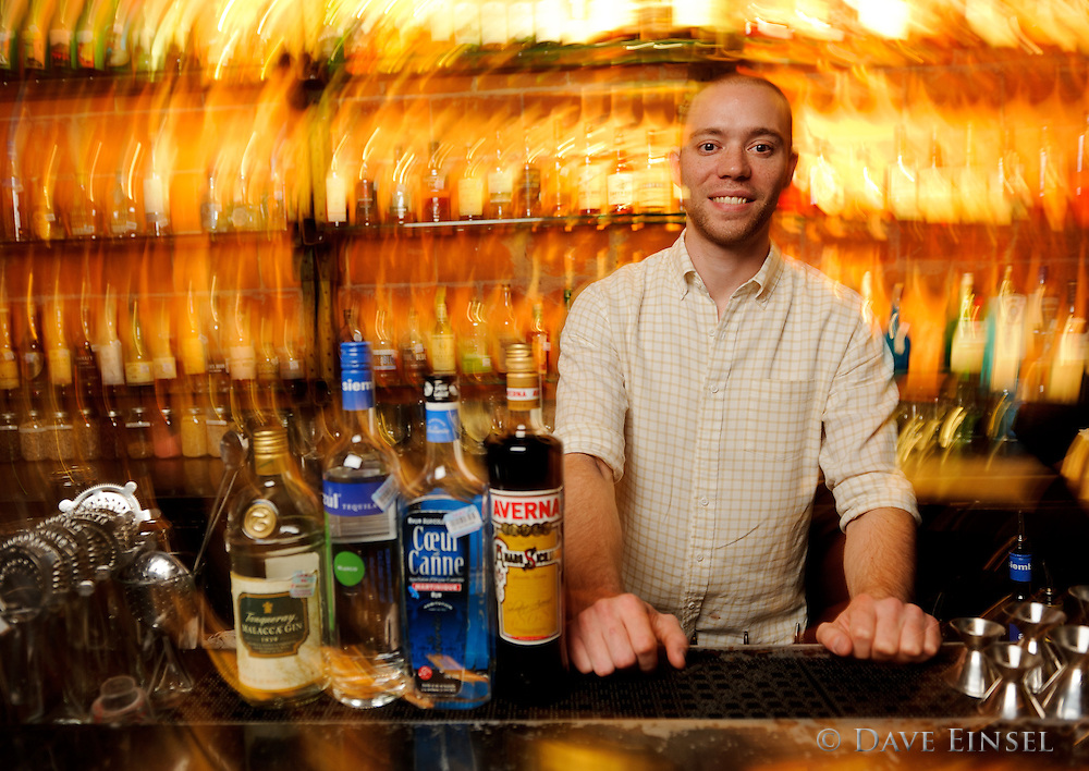 Mixologist Bobby Heugel prepares a variety of cocktails at Anvil Bar and Refuge, in Houston.