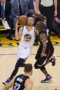Golden State Warriors guard Stephen Curry (30) reacts to losing a handle on the ball against the LA Clippers at Oracle Arena in Oakland, Calif., on February 23, 2017. (Stan Olszewski/Special to S.F. Examiner)