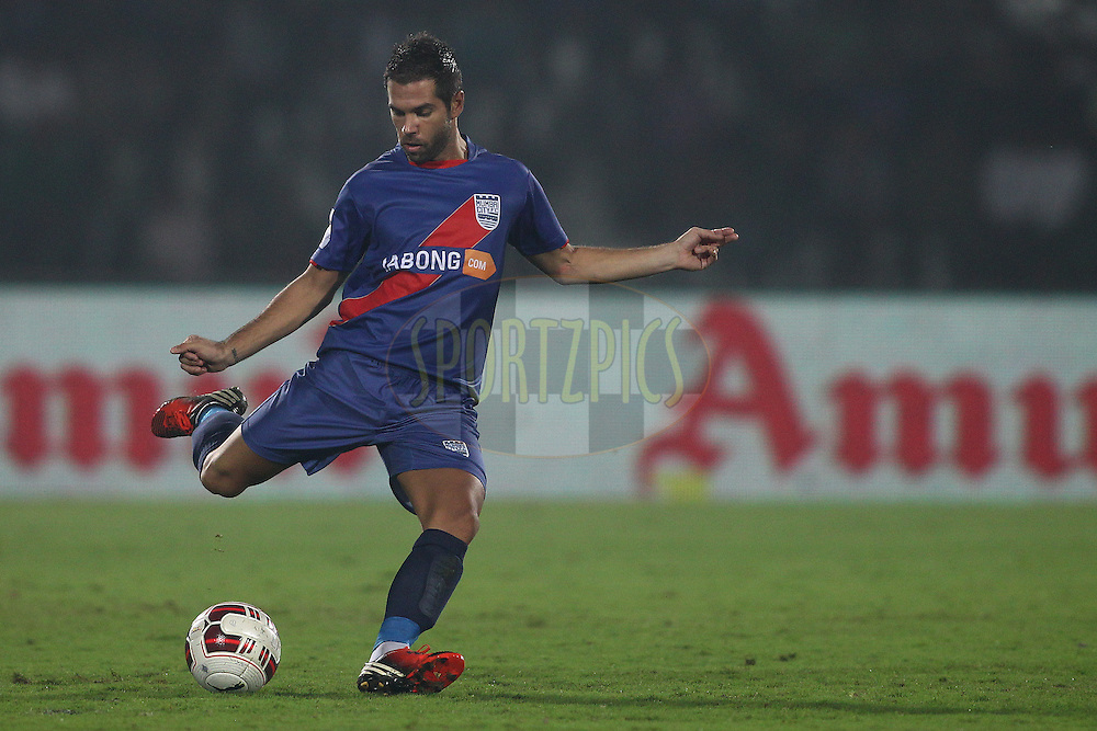 Johan Letzelter of Mumbai City FC during match 56 of the Hero Indian Super League between NorthEast United FC<br /> and Mumbai City FC held at the Indira Gandhi Stadium, Guwahati, India on the 10th December  2014.<br /> <br /> Photo by:  Shaun Roy / ISL/ SPORTZPICS