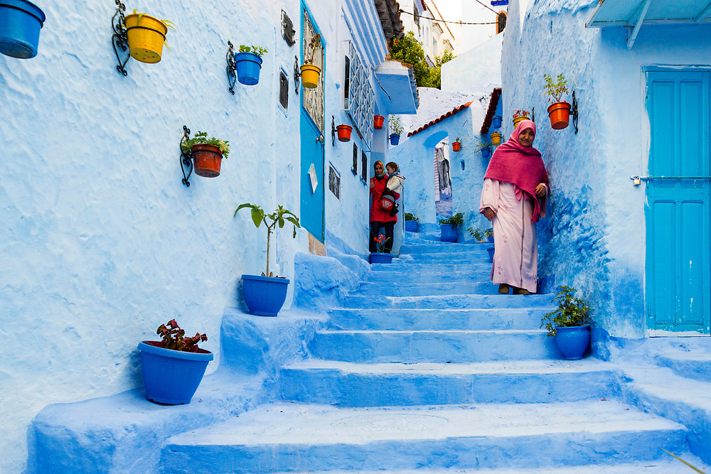 Chefchaouen Medina - the blue city, Rif region of Northern Morocco, 2014-03-28.
