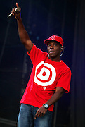 Dizzee Rascal performs live on the Main stage during day Two of Reading Festival on August 28, 2010 in Reading, England.  (Photo by Simone Joyner)