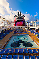 The new Disney Dream cruise ship, Disney Cruise Line, sailing between Florida and the Bahamas