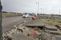 03/01/2014.   The prom in An Spideal  Galway  destroyed by the storms . Photo:Andrew Downes.