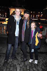 DEBBIE LAING and her children RUFUS & LOLA at the opening of the Somerset House ice Rink for 2008 sponsored by Tiffany & Co held at Somerset House, The Strand, London on 18th November 2008.