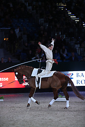 Kaiser, Daniel (GER), Down Under LR<br /> Leipzig - Partner Pferd 2016<br /> Voltigieren Weltcup<br /> © www.sportfotos-lafrentz.de / Stefan Lafrentz