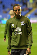 Everton's defender Brendan Galloway during the warm up before Capital One Cup match between Reading and Everton at the Madejski Stadium, Reading, England on 22 September 2015. Photo by Mark Davies.