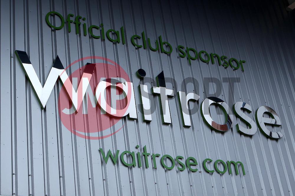 Reading FC's official sponsor Waitrose - Photo mandatory by-line: Robbie Stephenson/JMP - Mobile: 07966 386802 - 28/02/2015 - SPORT - Football - Reading - Madejski Stadium - Reading v Nottingham Forest - Sky Bet Championship