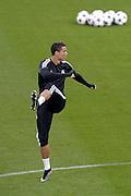 &copy; Filippo Alfero<br /> Allenamento Real precedente Juventus-Real Madrid di Champions League<br /> Torino, 04/05/2015<br /> sport calcio<br /> Nella foto: Cristiano Ronaldo