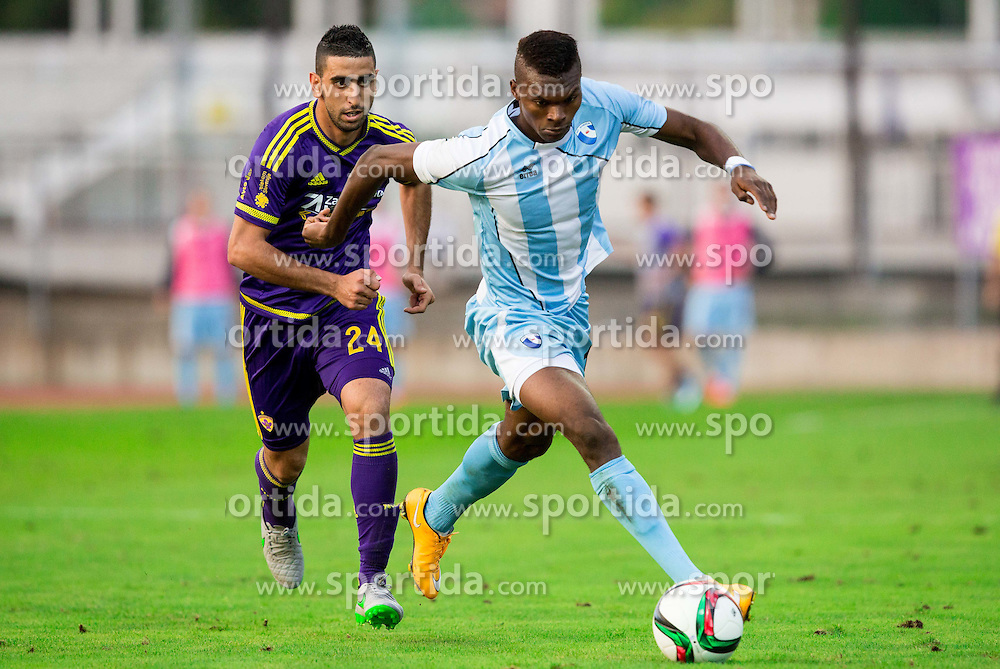 Marwan Kabha #24 of Maribor vs Eleke Blessing Chibuike #19 of Gorica during football match between ND Gorica and NK Maribor in 9th Round of Prva liga Telekom Slovenije 2015/16, on September 12, 2015, in Sports centrum Nova Gorica, Slovenia. Photo by Vid Ponikvar / Sportida