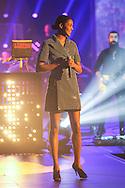 PARIS, FRANCE - FEBRUARY 13:  David Guetta ft Ayo performance during  Les Victoires De La Musique at Le Zenith on February 13, 2015 in Paris, France.  (Photo by Tony Barson/FilmMagic)