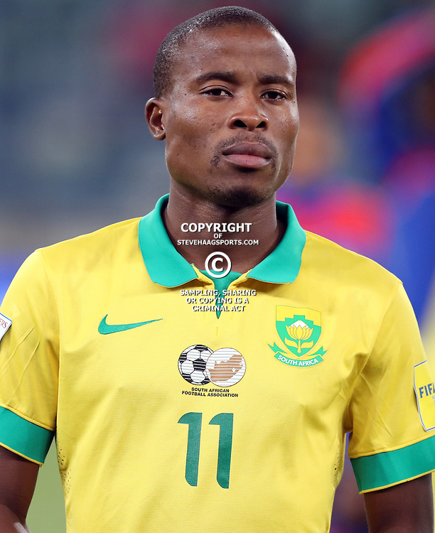 Thabo Matlaba of South Africa during the international friendly match between South Africa ( Bafana Bafana ) and Ghana at the Moses Mabhida stadium in Durban, South Africa on the 11th October 2016<br /> <br /> Photo by:   Steve Haag / Real Time Images
