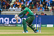 Wicket - Mosaddek Hossain of Bangladesh is bowled by Jasprit Bumrah of India during the ICC Cricket World Cup 2019 match between Bangladesh and India at Edgbaston, Birmingham, United Kingdom on 2 July 2019.